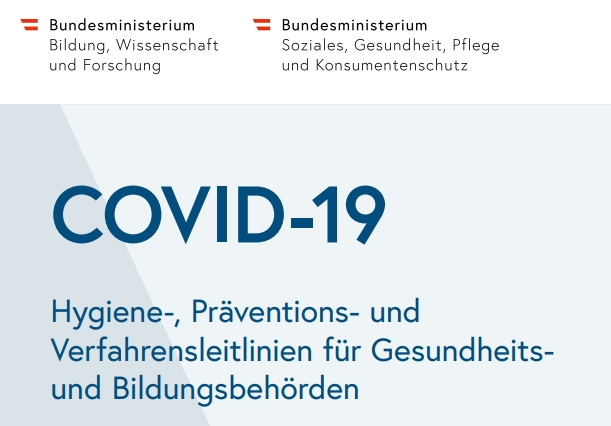 COVID-19 Hygiene, Prävention, Verfahrens-leitlinien
